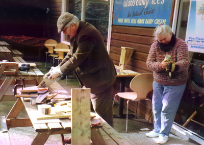 Dennis & Anne making batboxes 2005